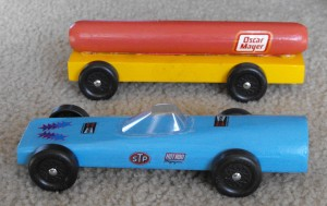 My Husband's Oscar Meyer Mobile, My son's Webkinz Car, Photo Dan Edwards, 2009