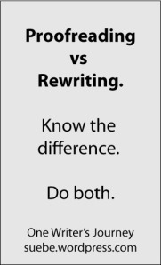 Proofreading Rewriting