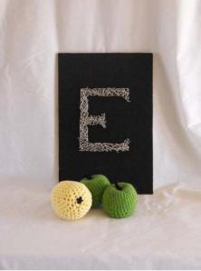 This piece of string art is one of the craft activities that I've done for Education.com.