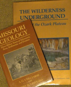 The research for a project on a Missouri cave started with only two books.  I'm still not sure how many more I will need.